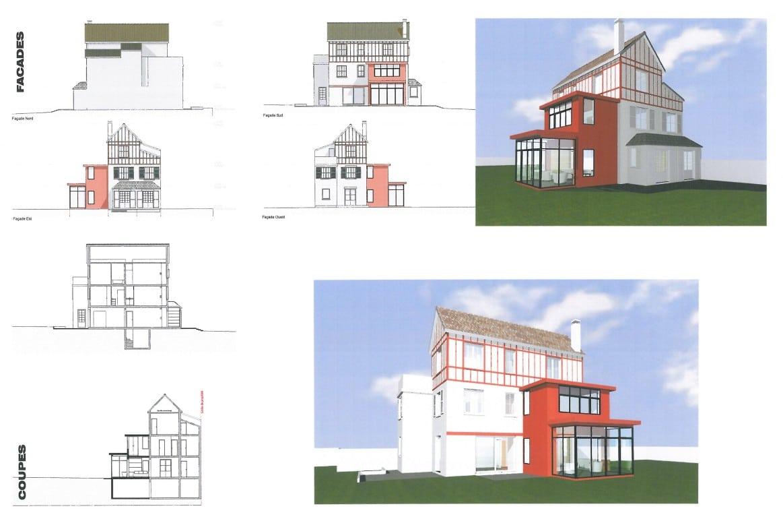extension d'une maison individuelle Saint Cloud 2 étages