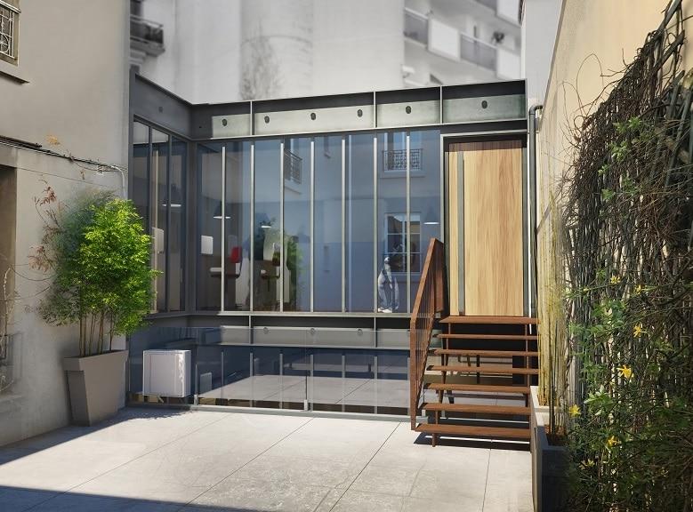 rénovation façade bureaux paris 14e