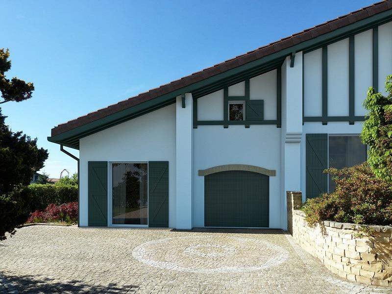 rénovation maison basque Arcangues vue aile gauche
